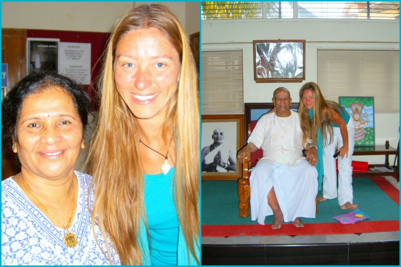 Alessandra with the Jois family in Mysore 2007