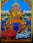 Ganesh  & goddesses Saraswati