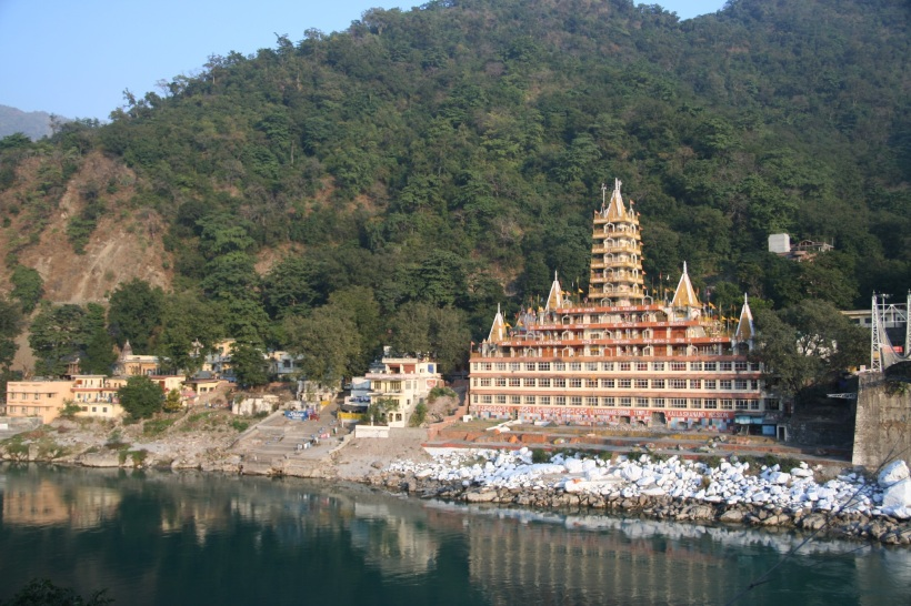 Rishikesh. A temple on the banks of the Ganges